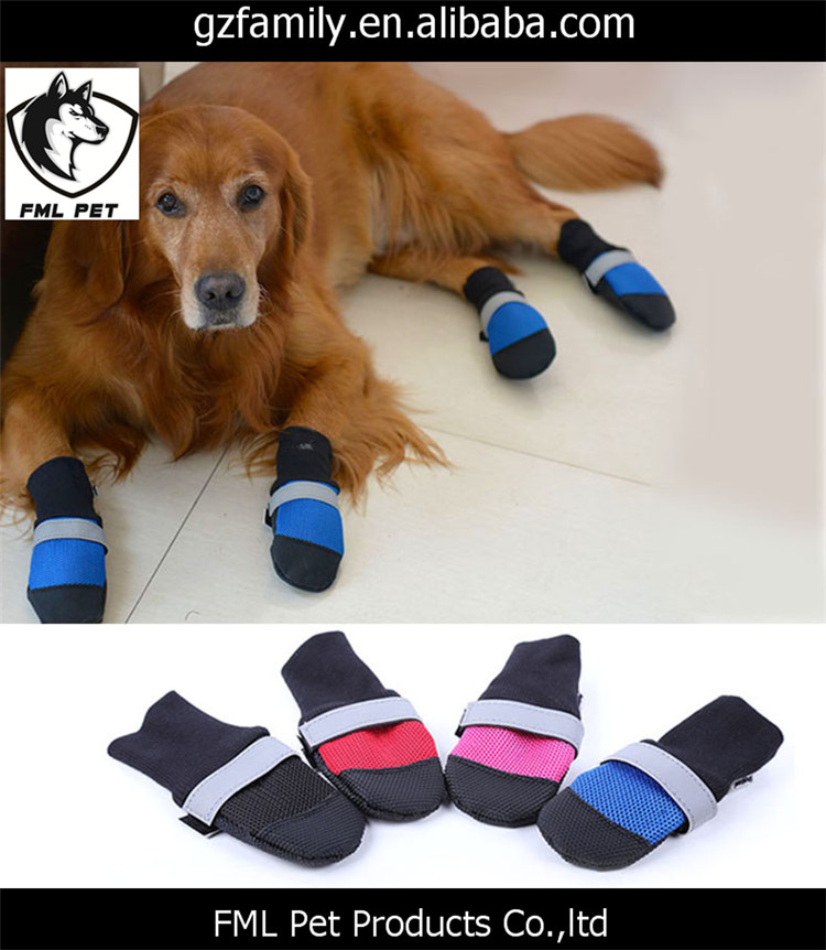 XS - XL Waterproof Pet Dog Shoes 4pcs For Small Medium Large Dogs 4 Colors Dog Boots