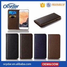 Luxury Genuine Leather Wallet Texture Case for iPhone 7 Plus