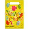 plastic happy birthday LOOT BAGS 10PC ASSORTED DESIGNS