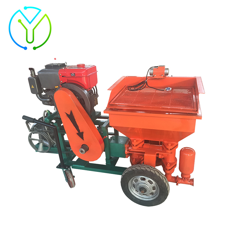 Long Life Wearing Part Wall Cement Mortar Spraying Plastering Machine