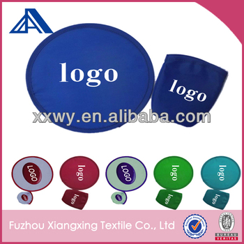 2014 promotional goods Round folding fan frisbee