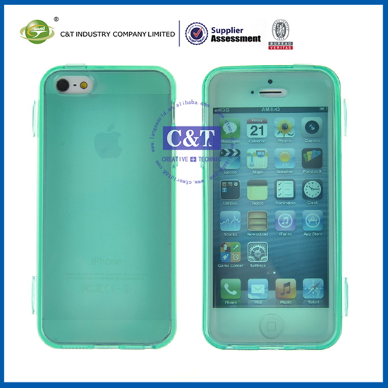 Quality new products smartphone case for iphone5 tpu bumper + matte pc backside cover case shell