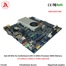 Windows10 intel core i3 Fanless Computer motherboard with Haswell i3-4005U cpu 12V ubuntu for Desktop PC