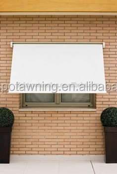 French outdoor window fold arms cassette awning