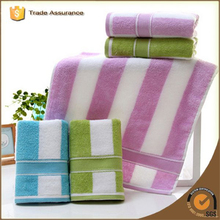 100% Cotton Custom Promotional Velour Reactive Printed Stripe Beach Towel