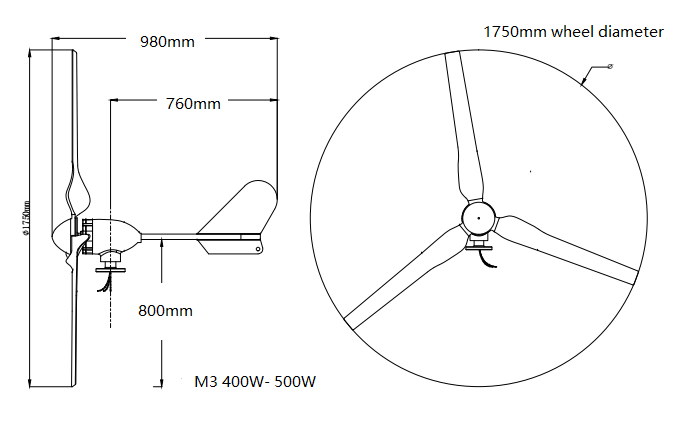 cheap wind turbine generator400w 12v/24v