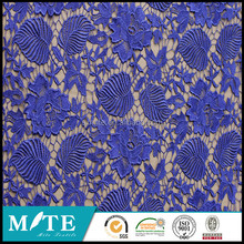 100% Polyester Silk Fabric Brushed lace embroidery