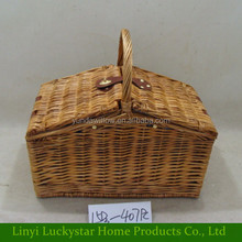 Wholesale Cheap Empty Wicker Wine Picnic Basket with Handle