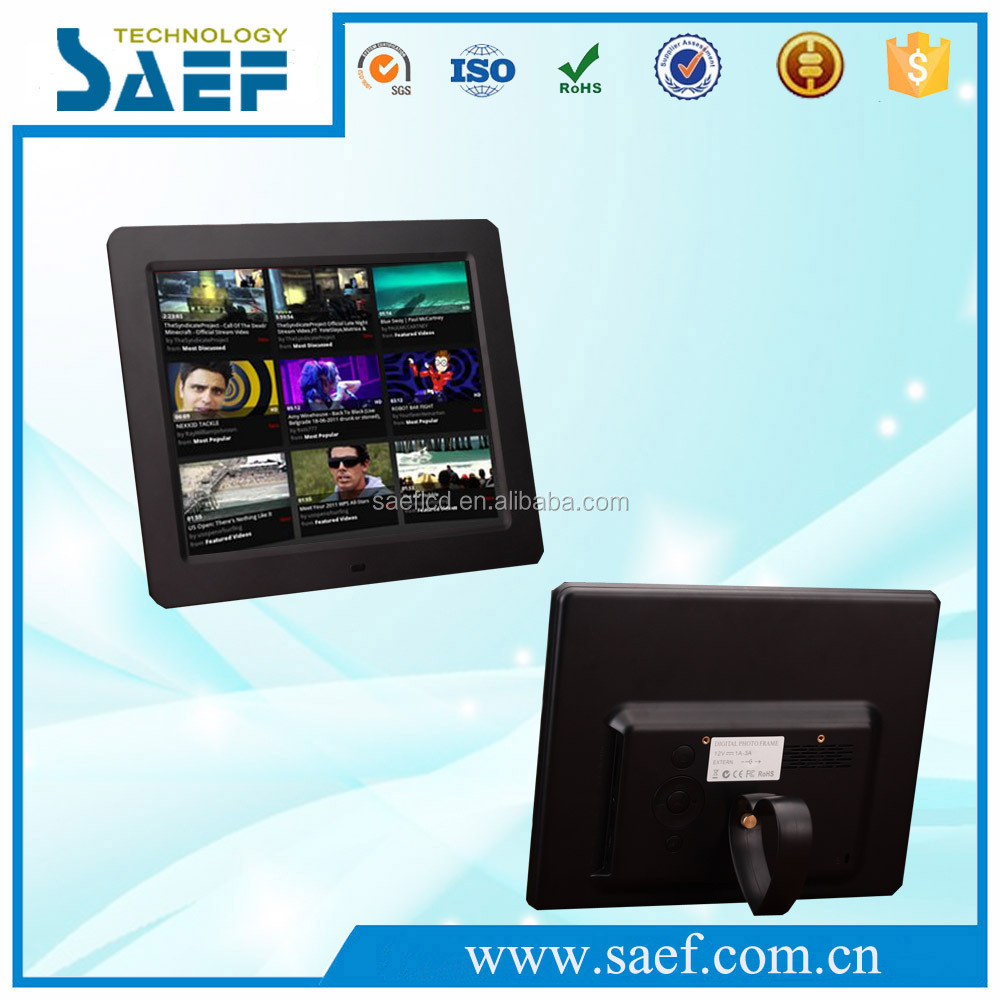 China manufacture 10 inch digital frame with calendar HD photo lcd display for advertising displays