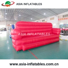 5m Long Inflatable Red Sofa For Furniture, Inflatable Long Chair For Promotion