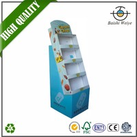 China supplier custom good quality baby shop retail advertising paper pallet display stand