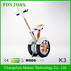 Two wheel cruising distance electric tricycle for handicapped fosjoas k3 Super wheel unicycle Airwheel A3 Standing on and ride