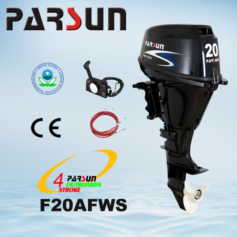 F20AFWS / remote control / electric start / short shaft PARSUN New type 20hp 4 stroke 362cc outboard motor