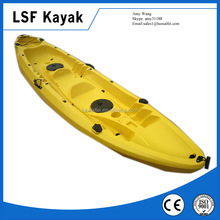 3 Person Sit On Top Fishing Kayak with 4 flush rod holders
