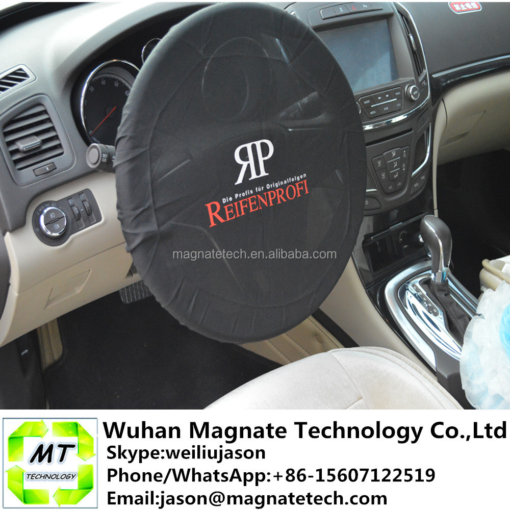 Logo Print Disposable Plastic Car Steering Wheel Cover