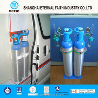 2015 40L Medical Aluminum Oxygen Gas Cylinder Portable Medical Oxygen Bottle