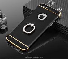 Brand new mobile phone accessaries 3 in 1 with finger ring phone case cover for iphone 7 6 s plus
