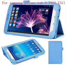 Etui Housse Coque Tablet PC Folding Stand Folio Leather Cases Tablet Back Cover for Samsung Galaxy Tab 3 T310 T311