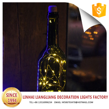 high quality glass bottles led party light for crafts