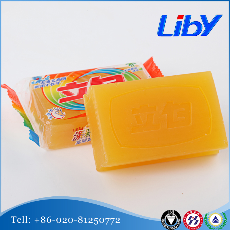 2016 Best Selling Liby Coconut-Oil Translucent Laundry Soap (Phosphorous free)