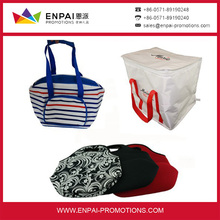 Promotional wine cooler bag and insulated lunch picnic cooler bag for frozen food