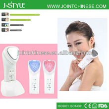 Portable Rechargeable IPL LED light photon galvanic handheld microcurrent beauty device