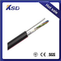 Medical Figure 8 Outdoor Fiber Optic Cable 12 Core loose tube Fiber Optic Cable Gytc8a aluminum tape/corrugated steel armored