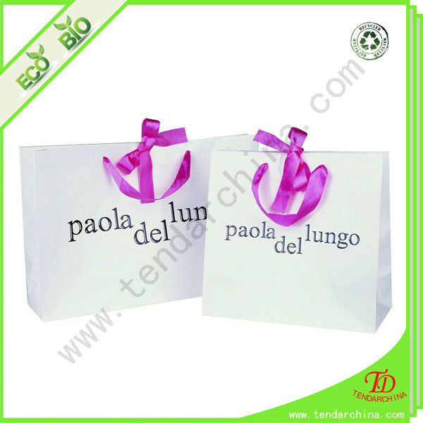 packaging gift bag for shopping and gift packing as paper bag