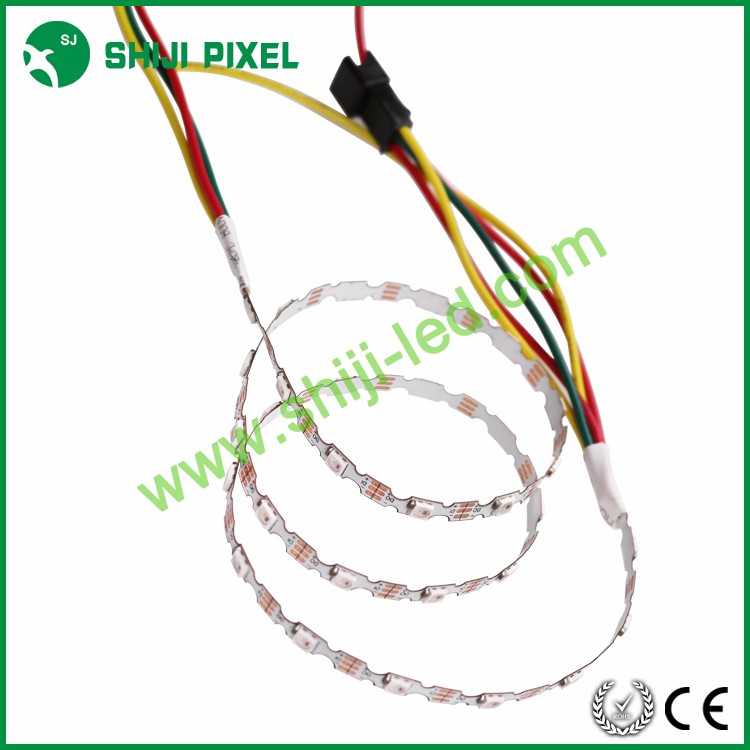 Wholesale S shape 5MM width SMD 3535 SK6812 IC multicolor mini led strip light