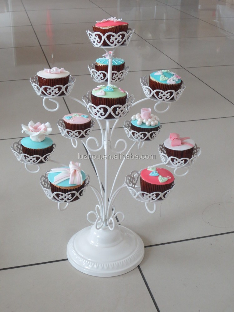 3-tiers display cupcake stand--hold 11 cups-stainless steel cakes rack