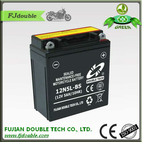 rechargeable lead acid battery 12V 5ah, starting 12N5L-BS exide battery india, motorcycle parts