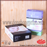 Fancy collapsible environmental box paper packaging for commodity