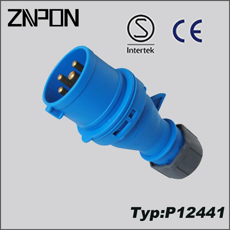 P12441 3P+T electrical plug connectors