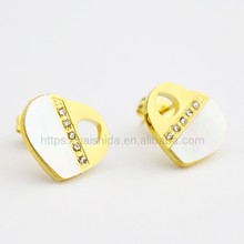 Fashion new design 18K gold plated stainless steel luxury earring jewelry with shell decoration