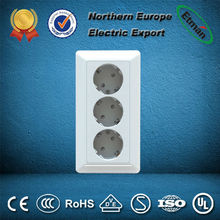 Three(3) way earthed Electrical Schuko socket