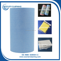 [soonerclean] 20% Viscose 80% Polyester Hydrophilic Spunlace Non Woven Fabric Roll