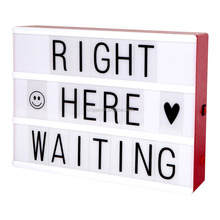 Red Color DC5V USB Cable Battery Powered DIY Free Combination Spell LED Illuminated Letter Light Board Cinema Light A4 Box