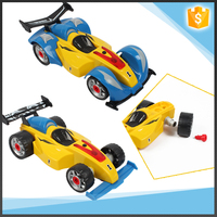 24 pcs Assembled 4WD Formula Car Set with light and sound tool set toys