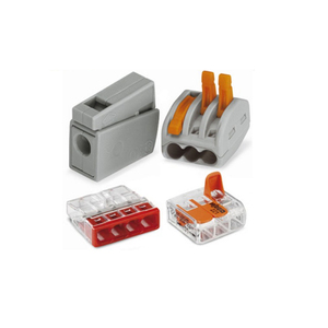 Screwless connection compact splice WAGO push wire connector