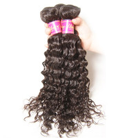 Malaysian Lace Closure With Bundles, Malaysian Curly Hair With Lace Closure 4 pcs Malaysian Virgin Hair Curly Free Shipping