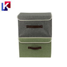 Newest Fabric clothing closet Storage Box Front Open Foldable with Lid organizers