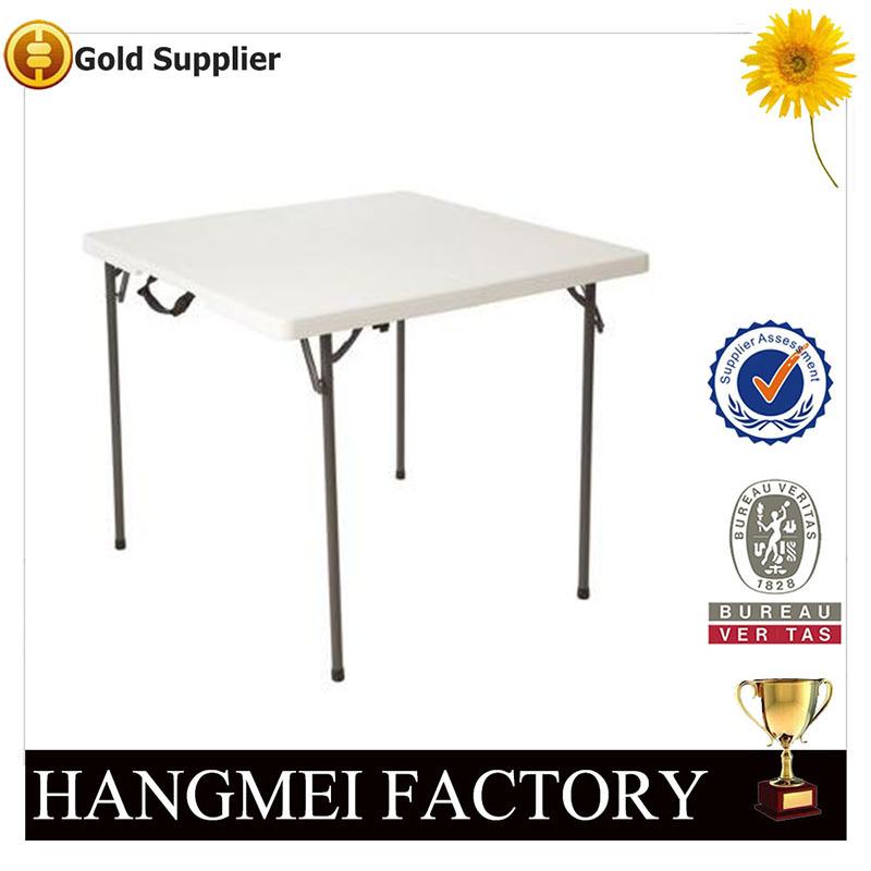 FOSHAN FACTORY PLASTIC SQUARE WHITE TABLE