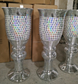 Tall Wedding Mosaic Mirrored Sparkle Goblet Vase Centerpiece