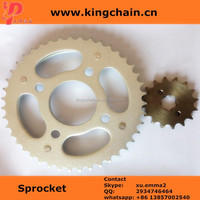 1045# galvanized TITAN CG150 motorcycle sprocket chain kits for brazil market