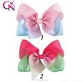 Hot Sales Patchwork Ribbon Hair Bow With Rhinestone Tail For Girls BH1433-X
