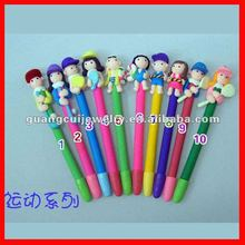 fashion Christmas sport polymer clay ball pen