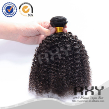2015 best quality RXY hair products mongolia afro kinky human hair weft