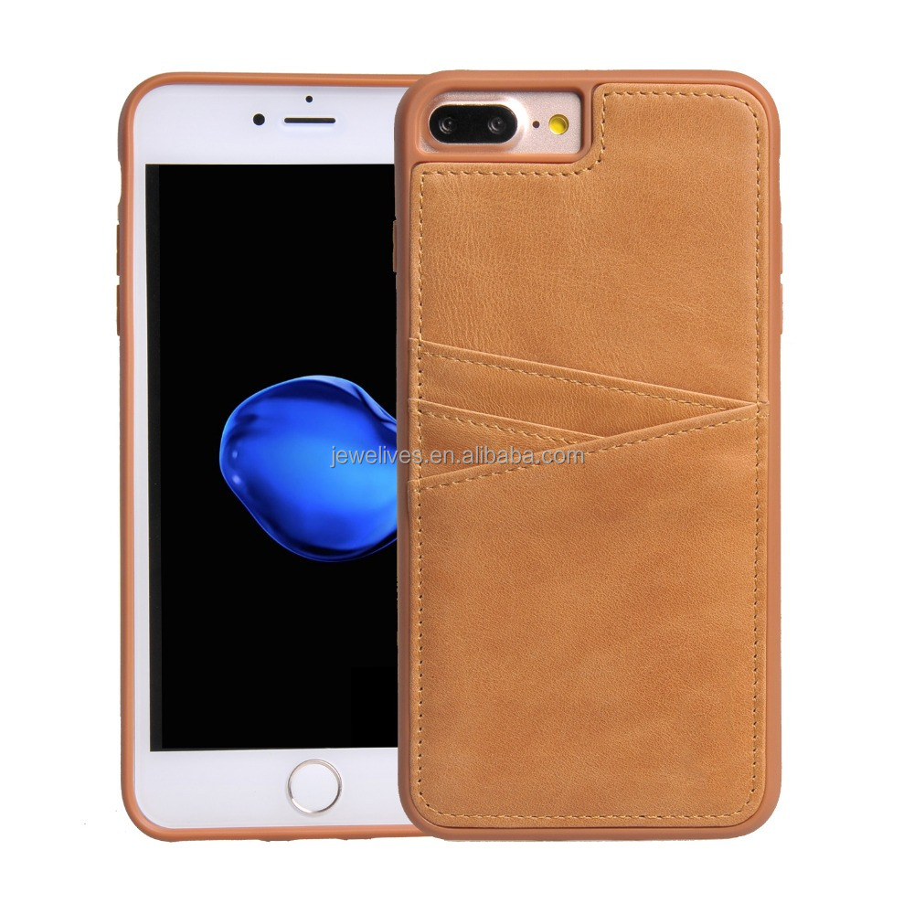 Precise craft leather phone case, slim mobile phone case with card slots