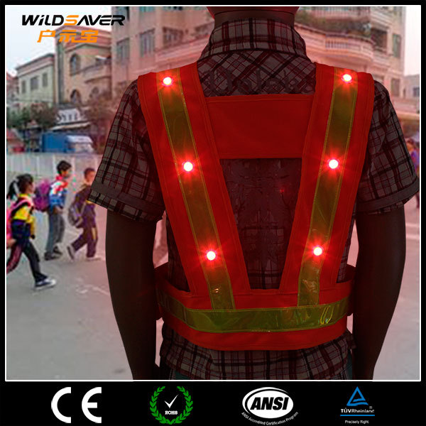 Led lighting industrial work wear uniform for construction builders