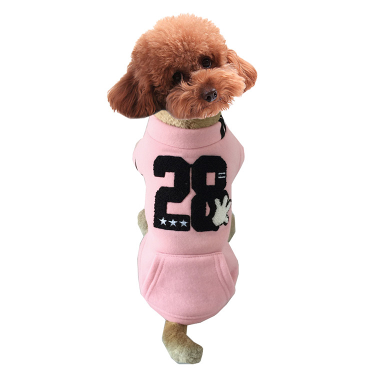 Dog Korean Casual Coat Clothes With Number 28
